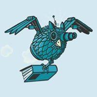 Uil met boek: logo jeugdboekenmaand 2018